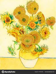 Coloriage Van Gogh Adulte Tournesol Photographie Rawpixel © 191750148