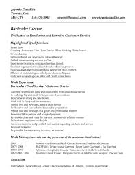Bartender Resume Examples 3 Resumes Samples Server