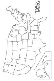 Map Of America Coloring Page