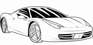 Sports Car Coloring Book Pages Sport Cars