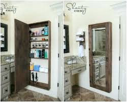 Rustic Bathroom Storage Cabinet Ideas With Mirror Decorative Projects For