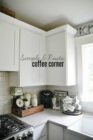 Extremely Kitchen Counter Corner Ideas Coffee Station Cozy And