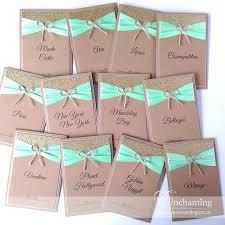 Mint Green Rustic Wedding Stationery