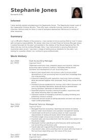 Cost Accounting Manager Resume Example