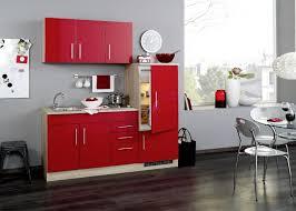 held single küchenzeile 180 cm hochglanz rot mit kochfeld kühlschrank und spüle vancouver