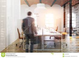 100 Brick Ceiling Open Space Office Interior Beige Man Stock Image