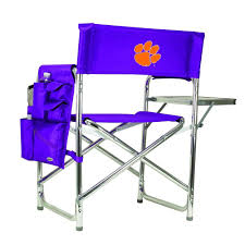 Picnic Time Clemson University Purple Sports Chair With Embroidered Logo Ncaa Zero Gravity Clemson Orange Chair Black Tigers Recling Camp Folding Chairs College Covers Textilene Pine Rocking Replacement Sling With Pillow Pnic Time University Sports With Digital Logo Academy Lcc12331 Round Table 30in Oversized Gaming Brands Elite