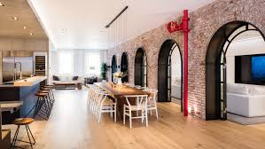 100 Lofts In Manhattan Ny Raad Studio Turns Two Tribeca Lofts With Exposed Arches Into
