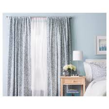 Target Threshold Window Curtains by Floral Paisley Window Curtain Panel Blue 54