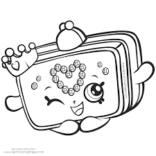Shopkins Coloring Pages Le Blossom Kins Season Getcoloringpages