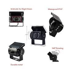 Podofo 12V 24V Car Rear View Wireless Backup Camera Kit + 7
