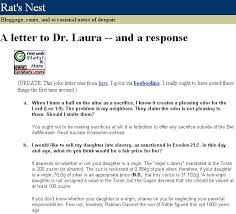 Response to the Letter to Dr Laura on Homo uality