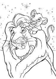 Lion King Coloring Page For Kids Disney Pages Printables Free