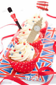 English Cupcakes Decorated With Big Ben A Guard And Double Decker