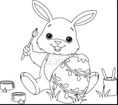 Brilliant Bunny Coloring Pages Printable Page Easter Pictures Egg Free Christian Sheets