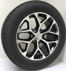 100 Oem Chevy Truck Wheels Style Black And Machine Snowflake 20 With Goodyear