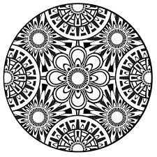 Lotus Flower Mandalas Coloring Pages Best Page Site