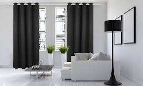 Sound Reducing Curtains Amazon by Amazon Com Deconovo Black Thermal Insulated Blackout Panel