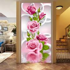5D DIY Diamond Painting Rose Flower 3D Cross Stitch Embroidery Flores Diamonds Wall Stickers Home Decor