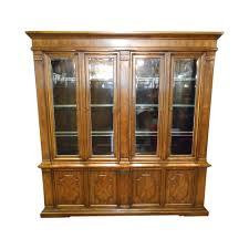 Drexel Heritage Dresser Handles by Drexel Heritage Large Walnut Italian Mediterranean Style Lighted
