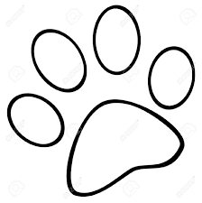 Bold And Modern Dog Paw Coloring Page Print Pages Eume