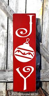 LARGE Christmas Sign Joy Plaque Decorations Outdoor Porch Decorating Ideas Yard House Signs Rustic Holiday Decor Outside Art