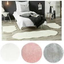 details zu bettvorleger bettumrandung teppich kunstfell läuferset 3 teilig set schlafzimmer