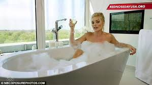 Mila Kunis Leaked Photos Bathtub by Margot Robbie Strips As She Sips Champagne To Support Red