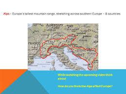 mountain ranges of europe warm up 10 minutes 1 spain 2 ukraine bulgaria and romania