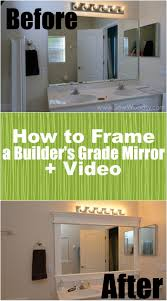How To Frame A Builders Grade Mirror (Before And After) Via ... 21 Bathroom Mirror Ideas To Inspire Your Home Refresh Colonial 38 Reflect Style Freshome Amazing Master Frame Lowes Bath Argos Sink For 30 Most Fine Custom Frames Picture Large Mirrors 25 Best A Small How Builders Grade Before And After Via Garage Wall Sconces Framing A Big Of With Diy Reason Why You Shouldnt Demolish Old Barn Just Yet Kpea Hgtv Antique Round The Super Real