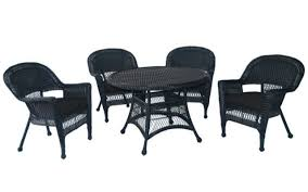 5-Piece Black Resin Wicker Chair & Table Patio Dining Furniture Set - Black  Cushions - 31556378 Outdoor Wicker Chairs Table Cosco Malmo 4piece Brown Resin Patio Cversation Set With Blue Cushions Panama Pecan Alinum And 4 Pc Cushion Lounge Ding 59 X 33 In Slat Top Suncrown Fniture Glass 3piece Allweather Thick Durable Washable Covers Porch 3pc Chair End Details About Easy Care Two Natural Sorrento 5 Cast Woven Swivel Bar 48 Round Jeco Inc W00501rg Beachcroft 7 Piece By Signature Design Ashley At Becker World Love Seat And Coffee Belham Living Montauk Rocking