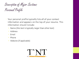 Sample Resume Personal Profile College Profiles Statement Examples Cv Law