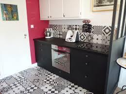 carreaux ciment cuisine cuisine avant après noir ulta mat crédence carreaux ciment leroy