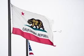 The State Flag Of California Flies Near Los Angeles International Airport