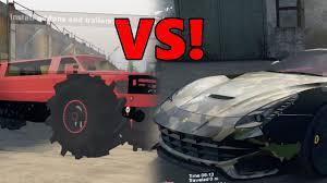 100 Cars Vs Trucks Spin Tires SUPER CARS Vs TRUCKS YouTube
