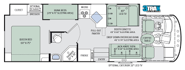 Jayco Class C Motorhome Floor Plans by Rv Rental Reservations At Family Rv California