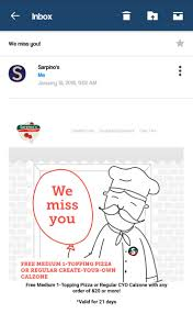 Sarpinos Hashtag On Twitter Gap Online Coupon Code 2019 Coupon Zooplus Italia Intertional Jock Vca Becker Animal Hospital 1 Grabfood Promo Codes Deals For Sarpinos Pizza Thai Food Pizzeria Coupons The Local Lineup Adidas Gazelle Promo Christa Coupons Dollar General Chinatown Mchenry Buy Mi Paste Snickers Discount Adam And Eve Free Whale Watching Monterey Ca Kyoto Milwaukee Datebox Kfc Singapore Space Play Tent Discount Card In Iceland Csea Discounts Ny