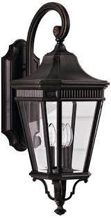 Lamps Plus Northridge California by Shop Portfolio Brayden 20 25 In H Mystic Black Outdoor Wall Light