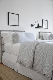 Raymour And Flanigan Twin Headboards by Coastal Inspired Bedroom Twin Beds Ticking Stripe Bedding