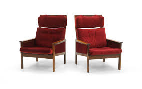 Pair Of High Back Lounge Chairs By Illum Wikkelso, Rosewood And Red Velvet  — RETRO INFERNO Vintage Edwardvictorian Era Red Velvet High Back Chair Spanish Revival Renaissance Antique Upholstered Chairs A Pair Adonis With Gold Crown Carved High Slim Back Single Chair Red Lvet Upholstery 128 Armen Living Mad Hatter Highback Gabrielle Grey Tub Dunelm Home Decor Of Queen Anne Arm Details About Chesterfield Flat Wing Modena Bordeaux 10 Best Armchairs The Ipdent Blog Collection Cheap Tufted Find Deals On