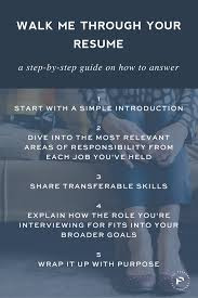 100 Walk Me Through Your Resume Answer This Interview Question Me Through Your Resume Career