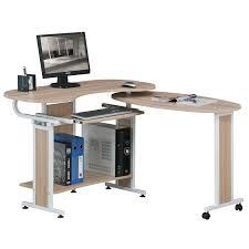 bureau informatique bureau informatique pliable opera aspect bois de chêne six