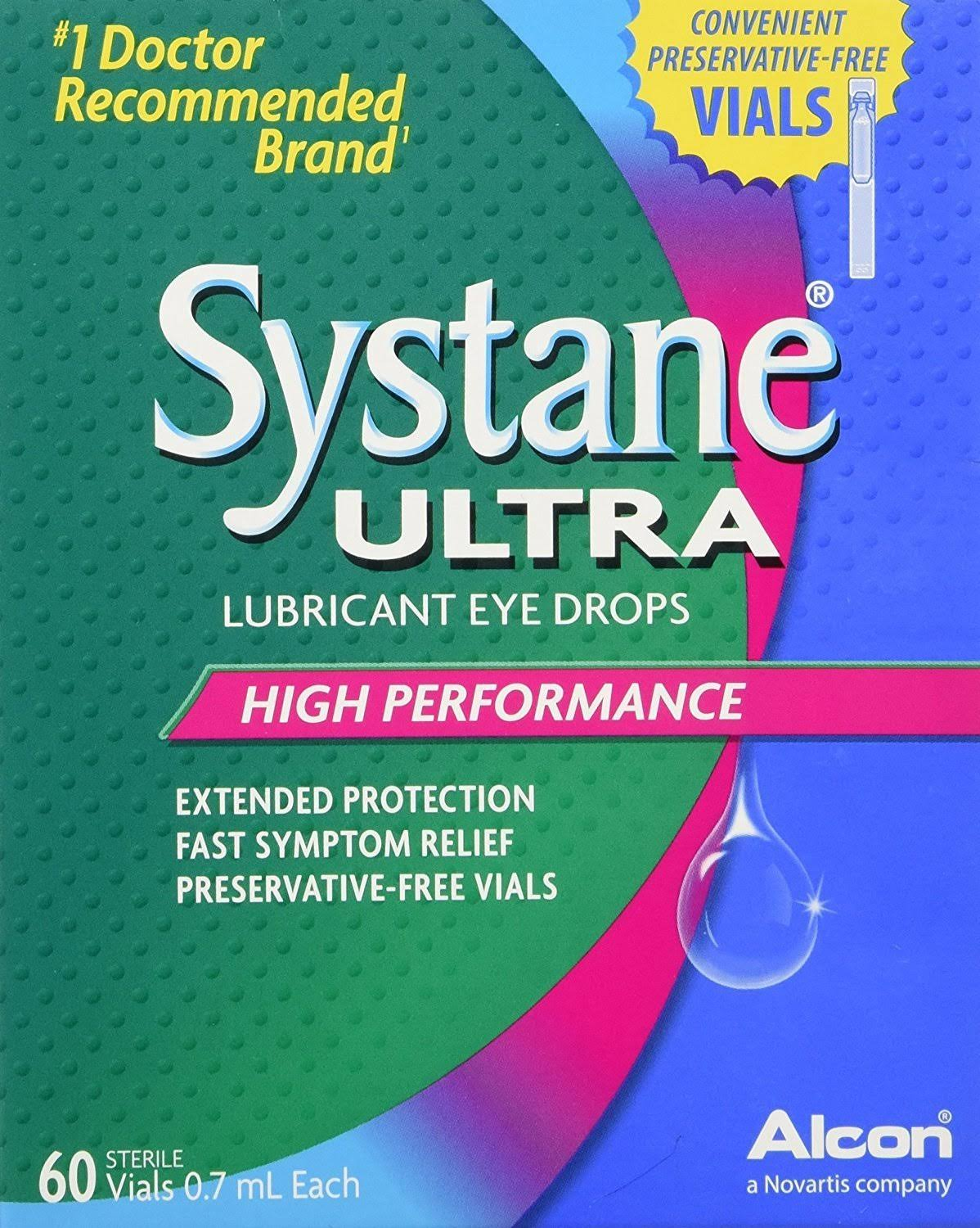 Systane Ultra Lubricant Eye Drops - 60 vials
