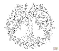 Christmas Tree Coloring Page Print Out by Coloring Pages Celtic Tree Of Life Coloring Page Free Printable