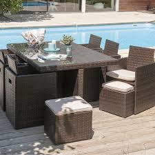 tables de jardin en resine salon d exterieur sur idee deco interieur de jardin table et