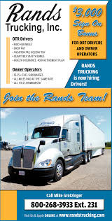 OTR Drivers / Owner Operators, Rands Trucking, Inc, Medford, WI Over The Road Truck Driving Jobs Jb Hunt Driver Blog Employment Otr Pro Trucker Truckers Preco The Trucking Jobslw Millerutah Company Long Short Haul Services Best Available Experienced Cdl Drivers Longhaul Allways Transit Inc Bloomer Chamber Of Commerce A Guide To Saving Money Hubs Pinterest What You Need To Know About Being A Big Boys Can Get With Climb Credit
