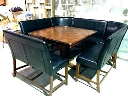 Booth Style Dining Table Tables Attractive Room Set Top Stagger