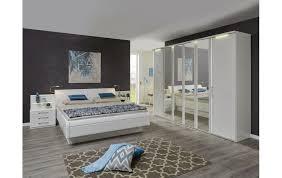 schlafzimmer in lack weiß mit doppelbett inkl zwei