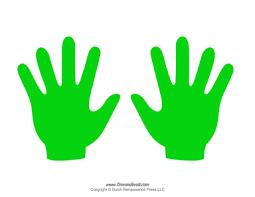 Hand Templates Printable Handprint Template