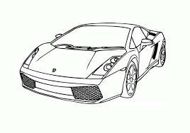 Lambhini Gallardo Race Car Coloring Page